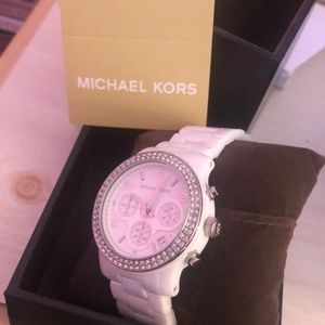 White Diamond Michael Korda Watch